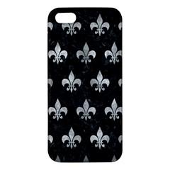 Royal1 Black Marble & Gray Metal 2 (r) Apple Iphone 5 Premium Hardshell Case by trendistuff