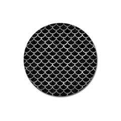 Scales1 Black Marble & Gray Metal 2 Magnet 3  (round) by trendistuff
