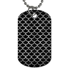 Scales1 Black Marble & Gray Metal 2 Dog Tag (one Side) by trendistuff