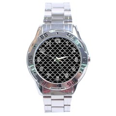 Scales1 Black Marble & Gray Metal 2 Stainless Steel Analogue Watch by trendistuff