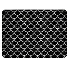 Scales1 Black Marble & Gray Metal 2 Samsung Galaxy Tab 7  P1000 Flip Case by trendistuff