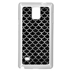 Scales1 Black Marble & Gray Metal 2 Samsung Galaxy Note 4 Case (white) by trendistuff