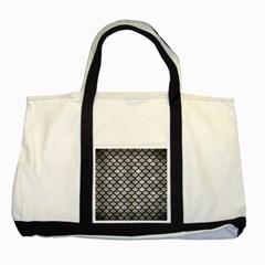 Scales1 Black Marble & Gray Metal 2 (r) Two Tone Tote Bag by trendistuff