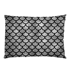 Scales1 Black Marble & Gray Metal 2 (r) Pillow Case by trendistuff