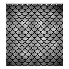 Scales1 Black Marble & Gray Metal 2 (r) Shower Curtain 66  X 72  (large)  by trendistuff