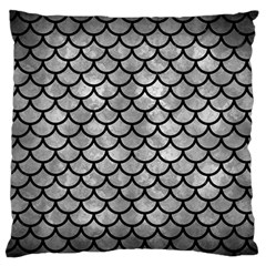 Scales1 Black Marble & Gray Metal 2 (r) Standard Flano Cushion Case (one Side) by trendistuff