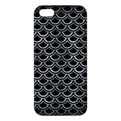 Scales2 Black Marble & Gray Metal 2 Apple Iphone 5 Premium Hardshell Case by trendistuff