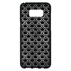 Scales2 Black Marble & Gray Metal 2 Samsung Galaxy S8 Plus Black Seamless Case by trendistuff