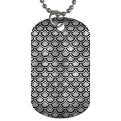 Scales2 Black Marble & Gray Metal 2 (r) Dog Tag (two Sides) by trendistuff