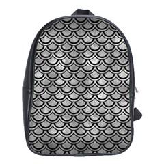 Scales2 Black Marble & Gray Metal 2 (r) School Bag (large) by trendistuff