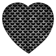 Scales3 Black Marble & Gray Metal 2 Jigsaw Puzzle (heart) by trendistuff