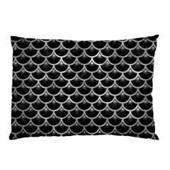 Scales3 Black Marble & Gray Metal 2 Pillow Case by trendistuff