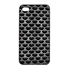 Scales3 Black Marble & Gray Metal 2 Apple Iphone 4/4s Seamless Case (black) by trendistuff