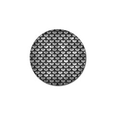 Scales3 Black Marble & Gray Metal 2 (r) Golf Ball Marker by trendistuff