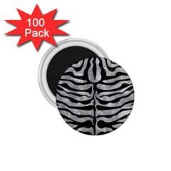 Skin2 Black Marble & Gray Metal 2 (r) 1 75  Magnets (100 Pack)  by trendistuff