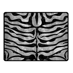Skin2 Black Marble & Gray Metal 2 (r) Fleece Blanket (small) by trendistuff