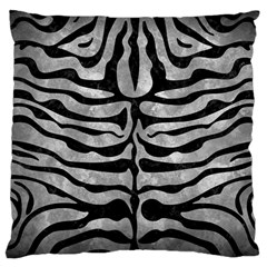Skin2 Black Marble & Gray Metal 2 (r) Large Cushion Case (two Sides) by trendistuff