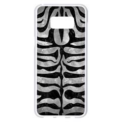 Skin2 Black Marble & Gray Metal 2 (r) Samsung Galaxy S8 Plus White Seamless Case by trendistuff