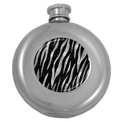 Skin3 Black Marble & Gray Metal 2 Round Hip Flask (5 Oz) by trendistuff