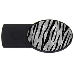 Skin3 Black Marble & Gray Metal 2 (r) Usb Flash Drive Oval (2 Gb) by trendistuff