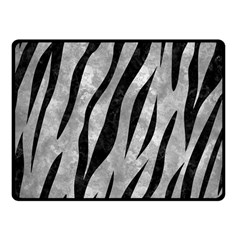 Skin3 Black Marble & Gray Metal 2 (r) Fleece Blanket (small) by trendistuff
