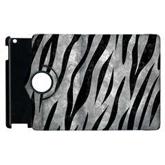 Skin3 Black Marble & Gray Metal 2 (r) Apple Ipad 2 Flip 360 Case by trendistuff