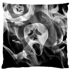 Creepy Halloween Large Cushion Case (one Side) by AllOverIt