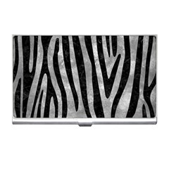 Skin4 Black Marble & Gray Metal 2 Business Card Holders by trendistuff