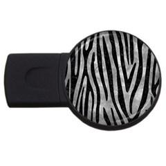 Skin4 Black Marble & Gray Metal 2 Usb Flash Drive Round (4 Gb)
