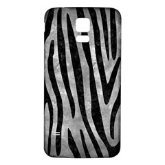 Skin4 Black Marble & Gray Metal 2 Samsung Galaxy S5 Back Case (white) by trendistuff