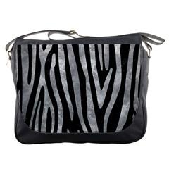 Skin4 Black Marble & Gray Metal 2 (r) Messenger Bags by trendistuff