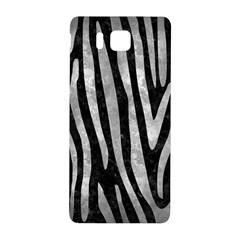 Skin4 Black Marble & Gray Metal 2 (r) Samsung Galaxy Alpha Hardshell Back Case by trendistuff