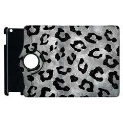 Skin5 Black Marble & Gray Metal 2 Apple Ipad 2 Flip 360 Case by trendistuff