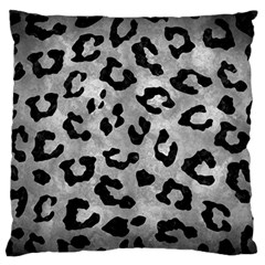 Skin5 Black Marble & Gray Metal 2 Large Flano Cushion Case (one Side) by trendistuff