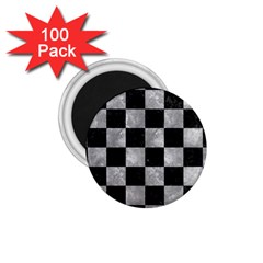 Square1 Black Marble & Gray Metal 2 1 75  Magnets (100 Pack)  by trendistuff
