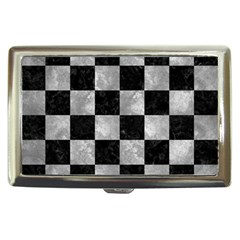 Square1 Black Marble & Gray Metal 2 Cigarette Money Cases by trendistuff