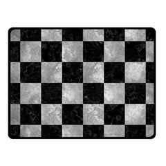 Square1 Black Marble & Gray Metal 2 Fleece Blanket (small) by trendistuff