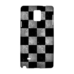 Square1 Black Marble & Gray Metal 2 Samsung Galaxy Note 4 Hardshell Case by trendistuff