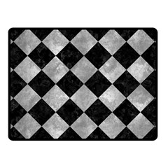 Square2 Black Marble & Gray Metal 2 Fleece Blanket (small) by trendistuff