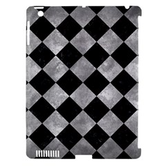 Square2 Black Marble & Gray Metal 2 Apple Ipad 3/4 Hardshell Case (compatible With Smart Cover) by trendistuff