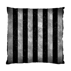 Stripes1 Black Marble & Gray Metal 2 Standard Cushion Case (two Sides) by trendistuff