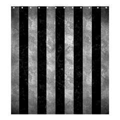Stripes1 Black Marble & Gray Metal 2 Shower Curtain 66  X 72  (large)  by trendistuff
