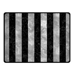 Stripes1 Black Marble & Gray Metal 2 Fleece Blanket (small) by trendistuff