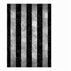 Stripes1 Black Marble & Gray Metal 2 Small Garden Flag (two Sides)