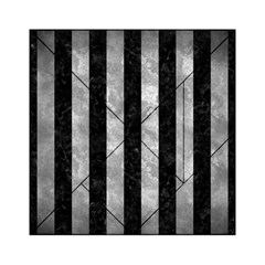 Stripes1 Black Marble & Gray Metal 2 Acrylic Tangram Puzzle (6  X 6 ) by trendistuff