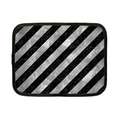 Stripes3 Black Marble & Gray Metal 2 Netbook Case (small)  by trendistuff