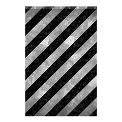 Stripes3 Black Marble & Gray Metal 2 Shower Curtain 48  X 72  (small)  by trendistuff