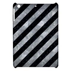 Stripes3 Black Marble & Gray Metal 2 Apple Ipad Mini Hardshell Case by trendistuff