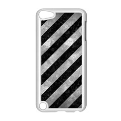 Stripes3 Black Marble & Gray Metal 2 Apple Ipod Touch 5 Case (white) by trendistuff