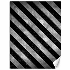 Stripes3 Black Marble & Gray Metal 2 (r) Canvas 36  X 48   by trendistuff